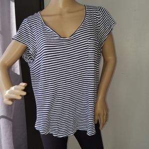 Cupio blue and white striped top.